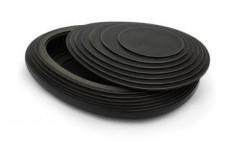 8. Koesterbox urn herinneringsbox, zwart MDF, 3,5 ltr inhoud, 38 cm, € 550