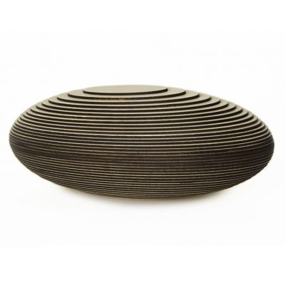 "5. urn ""cocon"", hout, 2,9 ltr inhoud - 39 cm, € 550"